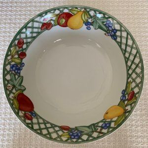 "Dansk 9 3/4"" Round Vegetable Bowl~Nordic Fruit"